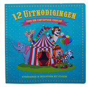 Party Blok Uitnodigingen, Set 12 stuks - 16 x 16 cm