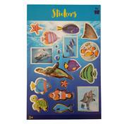 """Stickerboek met glitters """"Zeewereld"""""""