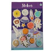 "Stickerboek met glitters ""Ruimte"""