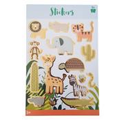 "Stickerboek met glitters ""Safari"""