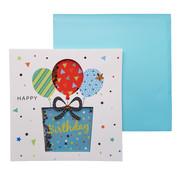 """Schudkaart Wenskaart Happy Birthday """"Cadeau"""""""