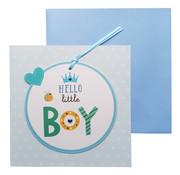 Wenskaart Geboorte Hello little boy