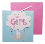 "Wenskaart Geboorte Wolk ""Sweet little girl"""