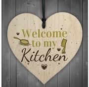 "Joni's Winkel Houten hanger 10x10 cm ""Kitchen"""