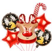"""Joni's Winkel Ballonnen Set Kerst """"Rendier"""" 6 Delig"""