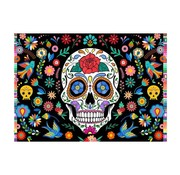 """Joni's Halloween Shop Halloween Decoratie banner """"Día de Muertos"""" 60x40 cm"""