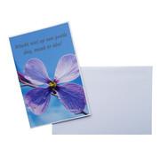 """CottonCounts Luxe Kaart met envelop """"Wacht niet"""" 10x15 cm"""