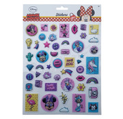 "Bubbel-stickers ""Minnie Mouse"" +/- 50 Stickers"