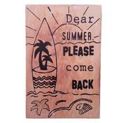 """Houten Postkaart """"Dear summer"""""""