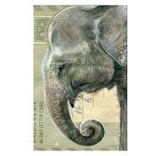 """Meander Luxe Kaart met envelop """"Olifant"""" 11,5x17,5cm"""