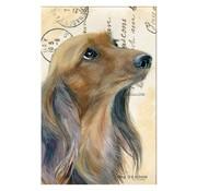 """Meander Luxe Kaart met envelop """"Hond Teckel langharig"""" 11,5x17,5cm"""