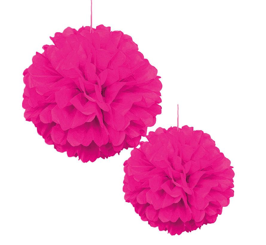 Pompoms Pink 30/40 cm