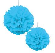 Pompoms Licht blauw 30/40 cm