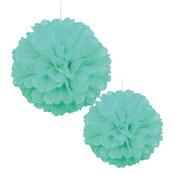 Pompoms Mint groen 30/40 cm