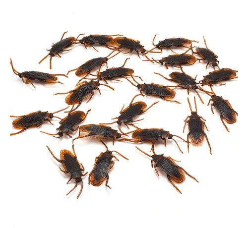 Joni's Halloween Shop Beestjes - kakkerlaken 12 stuks 4 cm