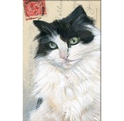 """Meander Luxe Kaart met envelop """"Kat zwart/wit"""" 11,5x17,5cm"""