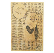 "Houten Postkaart ""Love you"""