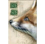 """Meander Luxe Kaart met envelop """"Vos"""" 11,5x17,5cm"""
