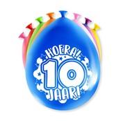 PaperDreams Ballonnen Hoera 10 jaar 8 stuks 20 cm