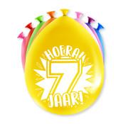 PaperDreams Ballonnen Hoera 7 jaar 8 stuks 20 cm