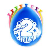 PaperDreams Ballonnen Hoera 2 jaar 8 stuks 20 cm