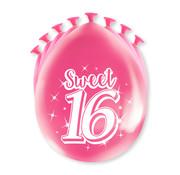 PaperDreams Ballonnen Sweet 16 8 stuks 20 cm