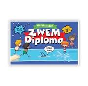 """PC Wenskaart Zwemdiploma """"Kinderen springen in het water"""""""
