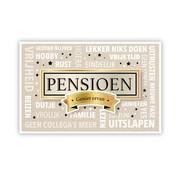"PC Wenskaart Pensioen ""Pensioen en teksten"""