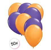 Joni's Winkel Ballonnen Oranje & Paars 50 stuks 27 cm