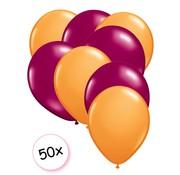 Joni's Winkel Ballonnen Oranje & Fuchsia 50 stuks 27 cm