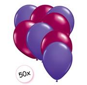 Joni's Winkel Ballonnen Paars & Fuchsia 50 stuks 27 cm