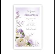 """PC Condoleance kaart """"Lila en witte bloemen"""""""