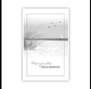 "PC Condoleance kaart ""Duingras en strand"""