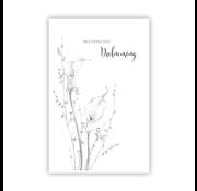 """PC Condoleance kaart """"2 Kelken en kleine bloemetjes"""""""