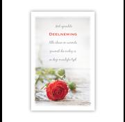 "PC Condoleance kaart ""Liggende rode roos"""