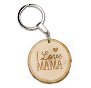"Miko Boomschijf sleutelhanger ""I love Mama"""
