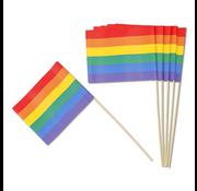 """Joni's Cocktailprikkers """"Regenboog vlag"""" 12 Stuks"""