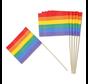 """Cocktailprikkers """"Regenboog vlag"""" 12 Stuks"""