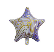 "Joni's Winkel Folieballon Marble Star ""Paars-Goud"" 45x45 cm"