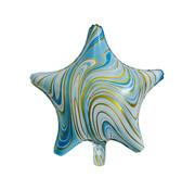 "Joni's Winkel Folieballon Marble Star ""Blauw-Goud"" 45x45 cm"