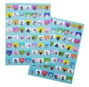 "Joni's Winkel Shape Stickers 112 stuks ""Honden & Katten"""