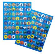 """Joni's Winkel Shape Stickers 112 stuks """"Wilde dieren"""""""