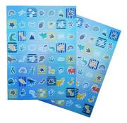 """Joni's Winkel Holografische Stickers 112 stuks """"Dino tijdperk"""""""