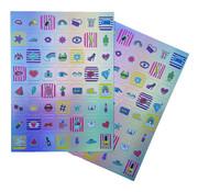 """Joni's Winkel Holografische Stickers 112 stuks """"OMG"""""""