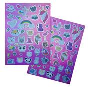 "Joni's Winkel Holografische Shape Stickers ""Unicorn Dream"""