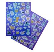 "Joni's Winkel Holografische Shape Stickers ""Honden & Katten"""