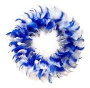 """Joni's Winkel Veren krans 30 cm """"Blauw/Wit"""""""