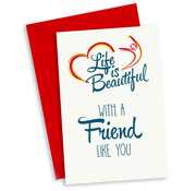 "Miko Life is Beautiful Kaart ""With a friend like you"""