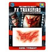 Tinsley Transfers Tinsley Horror 3D Tattoo Keelwond ( Sore Throat )