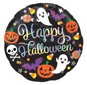 Anagram Standard Shape Folieballon Holografisch Happy Halloween 45 cm